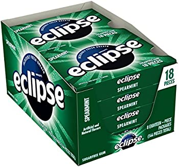 8-Pack Eclipse Spearmint Sugar Free Gum (18 Pieces Per Pack)