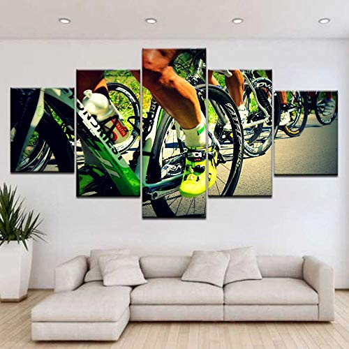 5 Paintings On Canvas Wall Art Print Off-Road Bike Frame In Poster Mountain Bike Sport Photo Home Decoration Frame Without Frame