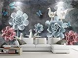 Papel Pintado Pared 3D Fotomurales Mariposa De Grúa De Origami De Flor En Relieve Gris Pared Papel Tapiz 3D Mural Pared Salon Decorativos