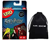 Uno Harry Potter Card Game Bundle with Drawstring Bag