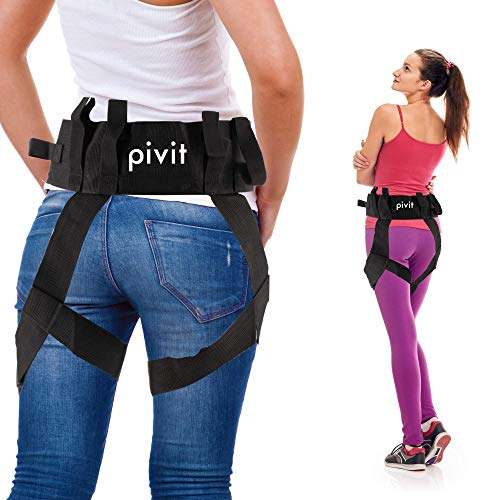 Pivit Transfer Lift Belt with Leg Loops | Medical Nursing Safety Gait Assist Device | Bariatrics Pediatric Elderly Occupational & Physical Therapy | L