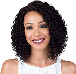 Short Lace Front Curly Wigs Black Wig for Women Synthetic Fiber 13