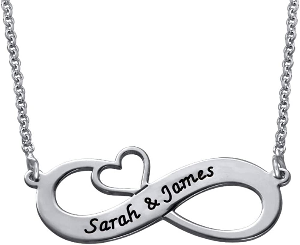 MyNameNecklace Cash special price Personalized Engraved Infinity Necklace At the price of surprise Pendant w