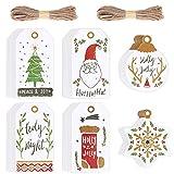 120 Piezas Etiquetas de Regalo Navidad Etiquetas de Papel Precio Tarjetas para...