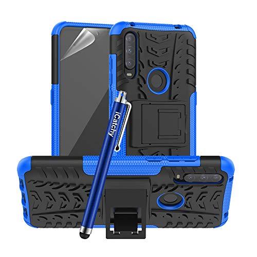 iCatchy - Funda híbrida para Alcatel 1S/3L 2020, resistente y resistente a los golpes, de doble capa, compatible con funda para teléfono Alcatel 1S/3L 2020 (azul)