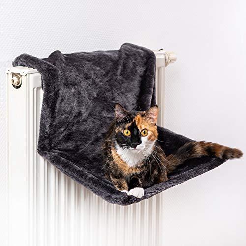 CanadianCat Company ® | Liegemulde für Katzen in schwarz ca. 45x26x31 cm Katzen Heizungs-Liege L