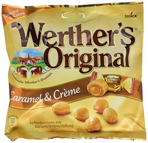 Werther's Original Caramel & Crème – (15 x 225g Beutel) – Köstliche Sahnebonbons mit zartfließendem Karamell-Kern und unwiderstehlichemgeschmack