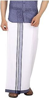 Prakasam Cotton Men's Cotton Single Dhoti (Navy)/ Single dhoti (1.30X2.00 mtrs)