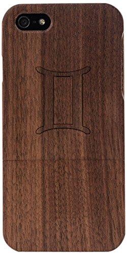 Woodero Gemini Zodiac Sign Real Wood Case for Apple iPhone 5/5S