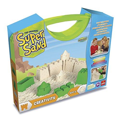 Goliath 83.232 Creativity Koffer-magischer Super Sand für Sandburgen im Kinderzimmer-Empfohlen ab 4 Jahren