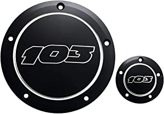 Motorcycle 5 Hole Black 103 Derby Cover Timing Timer Cover Point Cover For Harley Dyna Softail Street Glide Electra Glide 1999-2013