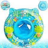 Baby Schwimmring,Baby Aufblasbarer schwimmreifen,Blau Baby Schwimmhilfe,Baby Pool Schwimmring,Aufblasbarer schwimmreifen Kleinkind,Float Kinder Schwimmring,Kinder Schwimmreifen Spielzeug