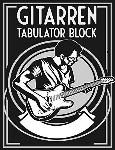 Gitarren Tabulator Block: Leere Tabs und Akkorde - Musik Schreibheft - Leere Notensysteme - Tabulator und Akkord Notenblock - Ca. DIN A6
