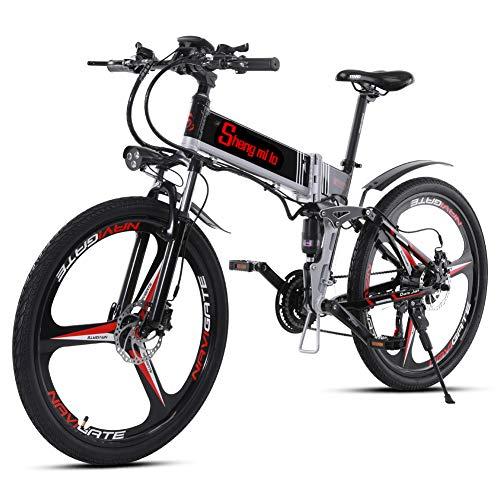 Shengmilo-M80 Bicicleta De Montaña Eléctrica, Bicicleta Eléctrica Plegable De 26 Pulgadas, Suspensión...