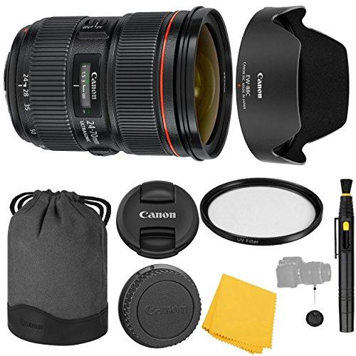 Canon EF 24-70mm f/2.8L II USM Lens + UV Filter + Canon EW-88C Lens Hood + Canon LP1219 + Lens Cap Keeper + 24-70mm II f/2.8 L USM Lens - International Version (1 Year AOM Warranty)