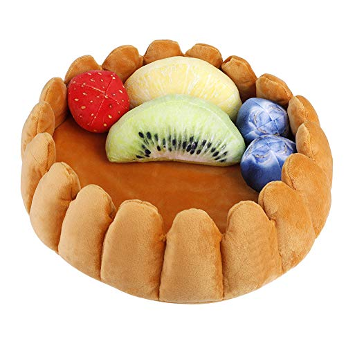 Yosoo Pet Plush Nests Pad Tart Kennel with Fruit-Shaped Pillow for Dogs Cats Keep Warm