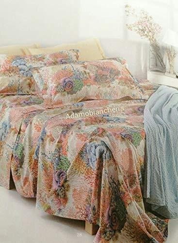 MIRABELLO Juego de sábanas para cama de matrimonio de 250 x 290 cm y 2 fundas de almohada.