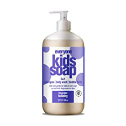 Everyone 3-in-1 Soap for Every Kid Safe, Gentle and Natural Shampoo, Body Wash, and Bubble Bath, Lav