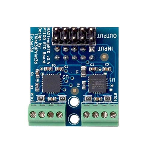 CAIJINJIN Module PT100 Daughter Module Board Allowing Two PT100 Temperature Sensors To Be Attached ForThe Duet Ethernet 3D Printer Part and The DuetWifi Driver Modules