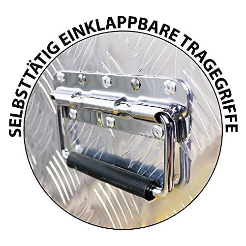 Truckbox Box Werkzeugkiste Anhängerbox Deichselbox 15 Größen Alumium Trucky, Boxentyp:D160 (109 x 40 x 38 cm) - 5