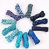 Cuerda de paracaídas de 12 colores, 10 pies, cuerda de paracaídas 550 Multifunción, tipo III, cuerda de paracaídas, 550 libras, juego de manualidades al azar, 7 hebras Azul