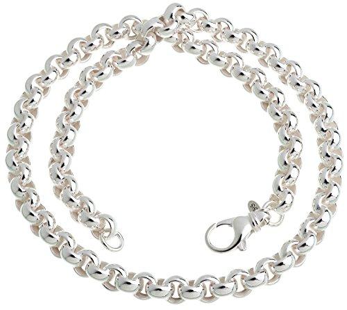 Runde Erbskette - 8,5mm Breite - Länge wählbar 40cm-100cm - echt 925 Silber