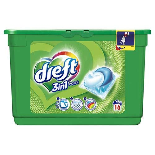 Waschmittel Dreft 3 in 1 Regular 16er. Pods fluess. Box, (1x16er Box)
