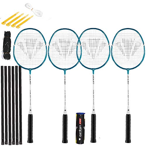Carlton Turnier-Badminton-Sets (verschiedene Optionen) (MaxiBlade 4 Spieler Set inkl. Pfosten, Netz und 6 Federn)