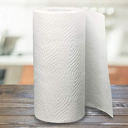 Ltjqsm 2 Rollos de Limpieza de Papel toallitas de Cocina Tejidos Papel en Relieve Grueso Toalla de Mano Grande