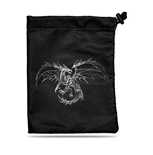 Ultra Pro UP – Dice Bag – Treasure Nest – Black Dragon, Erwachsene, Unisex, Schwarz, 10 x 10 cm