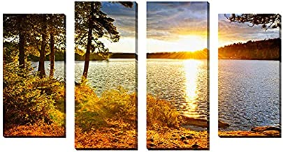 "Picture Perfect International 704-0045"" Algonquin by Elena Elisseeva Canvas Wall Art, Set of 4, Large"