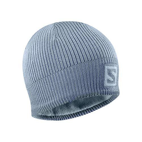 SALOMON Logo, Beanie Berretto per Sci Nordico ed Escursionismo Unisex – Adulto, Blu Chiaro (Ashley Blue), Taglia Unica