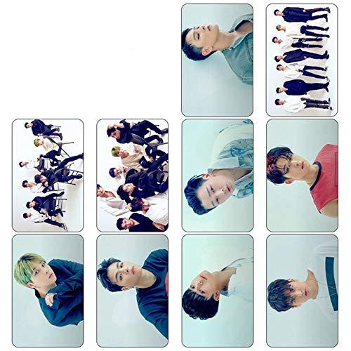 10 unids/Set K-Pop IKON Nuevo álbum Regreso Mostrar versión fotográfica para Tarjeta de Estudiante Tarjeta de autobús Pegatinas de Cristal de PVC