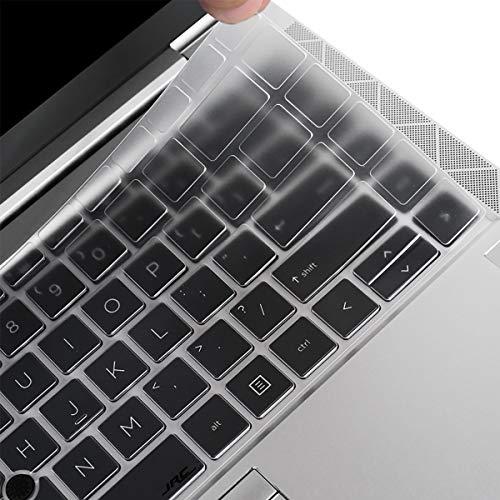 "i-Tensodo Keyboard Cover Compatible 14"" HP EliteBook 840 G7 Notebook PC, HP EliteBook 845 G7 14"" Laptop US Layout Keyboard Protective Skin-TPU"