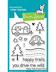 """Lawn Fawn Clear Stamps 3""""X4"""" - Happy Trails (Pack of 2)"""