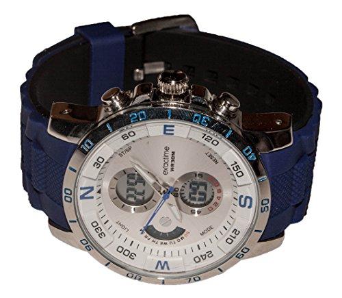 EXACTIME 2909 Azul - Reloj Deportivo Resistente al Agua Unisex - Análogo/Digital