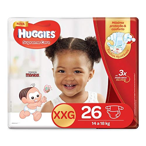 Huggies Fralda Supreme Care Mega XXG, 26 Fraldas