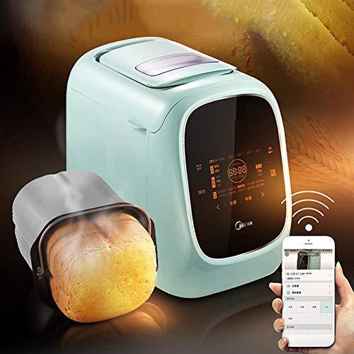 YLEI Brotbackautomat, Vollautomatisch Brotbackmaschine, Programm für glutenfreies Brot, 13 Stunden Zeit-Funktion, Bräunungsgrad in 3 Stufen, LED Bildschirm, 500W