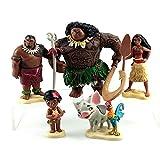 Película de dibujos animados Vaiana Moana princesa Maui jefe Tui Tala...