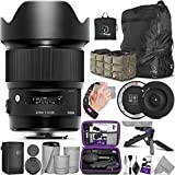 Sigma 20mm f/1.4 DG HSM Art Lens for Nikon F DSLR Cameras + Sigma USB Dock with Altura Photo Essential Accessory and Travel Bundle