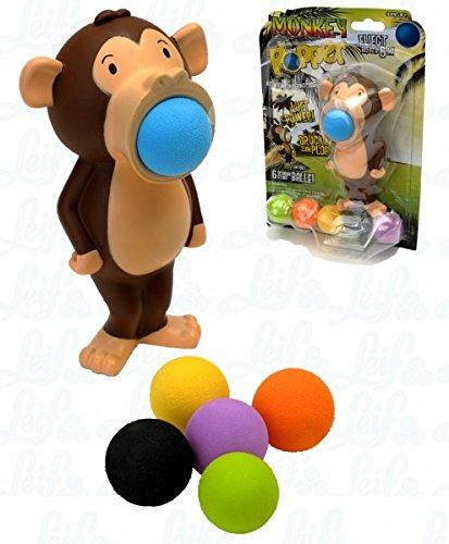 LEIF Plopper Äffchen - lustiges Spielzeug für draußen und drinnen Ballspiele Mädchen und Jungen ab 4 Jahren Indoor und Outdoor Spiele für Kinder mit Ball