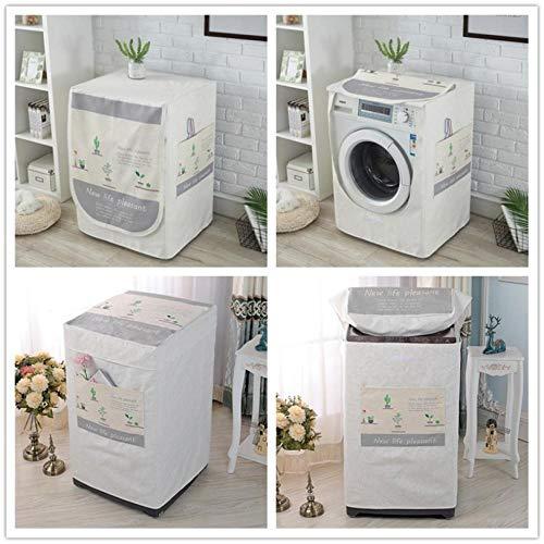 Waschmaschinen-Abdeckung, wasserdicht, weiß, Sonnenschutz, dickes Stoff-Design für einfache Verwendung, Staubschutz, 58 x 60 x 95 cm