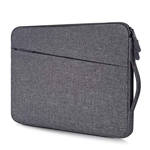 15.6 Inch Waterproof Laptop Case Men Women Briefcase with Handle for HP ENVY x360/Pavilion 15.6, Acer Chromebook 15/Aspire E15, Dell Inspiron 15 5584, Lenovo Yoga 720/730 15.6 Carrying Case Bag, Gray