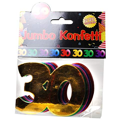 Udo Schmidt Confettis géants géants pour Anniversaire 30 Ans Décoration de Table Multicolore