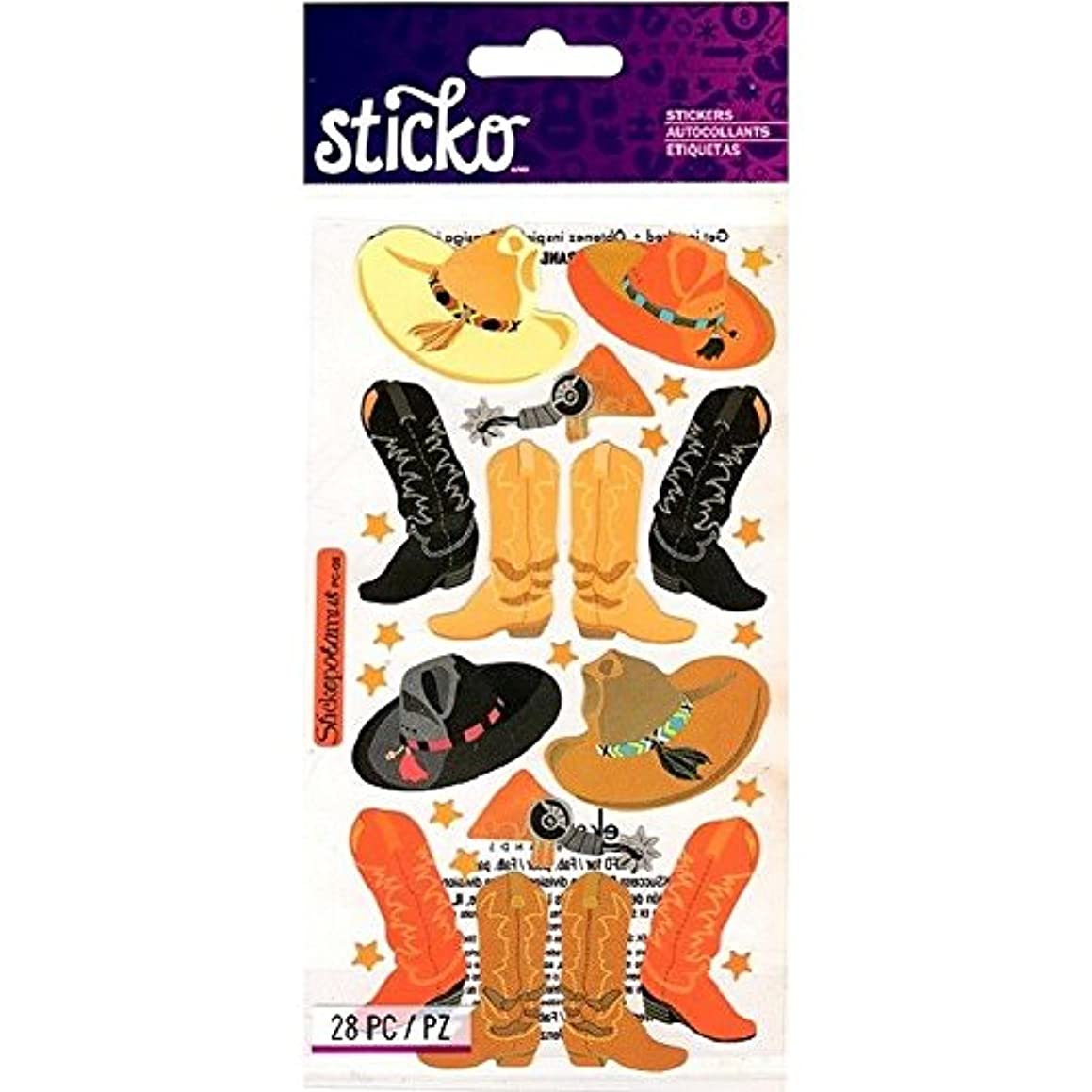 Sticko Classic Stickers Cowboy Hats & Boots SPPC08 - 28 Stickers