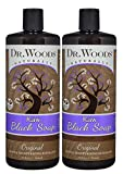 Dr. Woods Natural Raw African Black Moisturizing Liquid Castile Soap, 32 Ounce (Pack of 2)