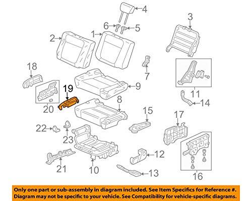 Genuine Honda 82514-SCV-A01ZA Left Rear Seat Hinge Lock (Inner) Cover