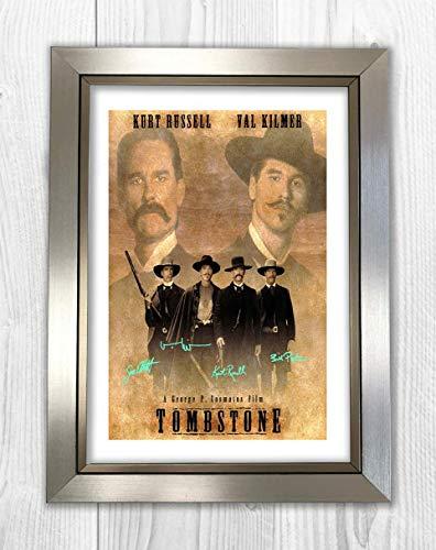 Engravia Digital Tombstone 2 - Fotografía de la película fotográfica con autógrafo, tamaño A4