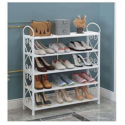 Zapatero 5/6/7 Nivel Zapato Rack Entryway Metal Space Having Shelf Material de Almacenamiento Organizador Multifuncional Zapato Torre Stand Caja de Zapatos (tamaño : 90cm(5-Tiers))