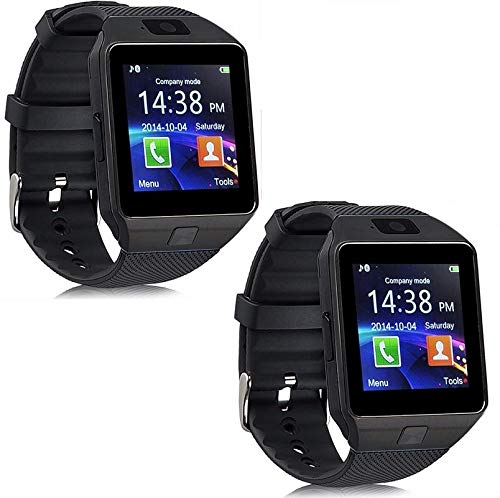 Drumstone (Pack of 2) Bluetooth Smart Watch with Touchscreen and SIM Card Slot & Camera